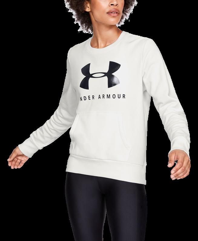 女士UA Favorite Fleece Sportstyle Graphic圆领运动衣