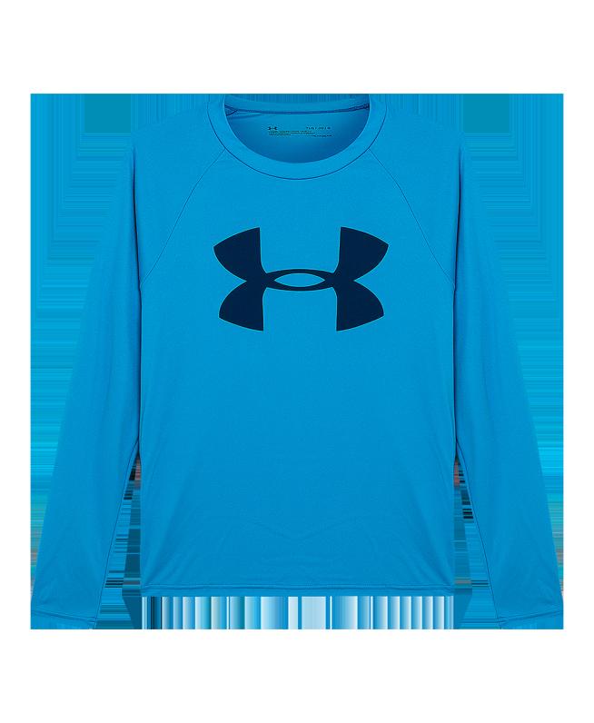 男童UA Tech Big Logo长袖运动衣