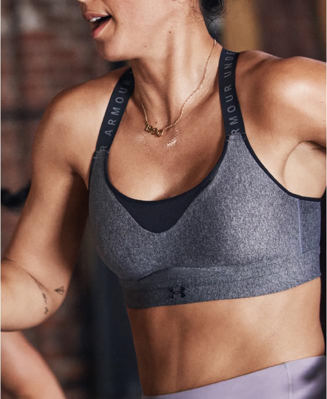 女士UA Infinity Heather运动内衣—高强度