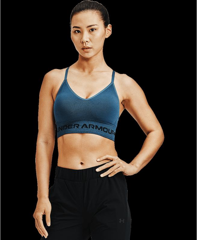 女士UA Seamless Long Heather运动内衣—低强度