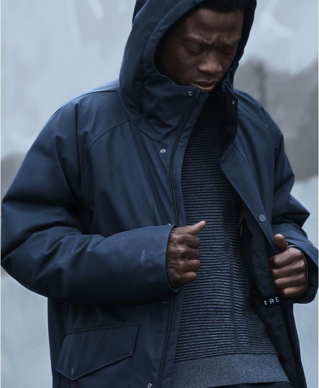 男士UA RECOVER长款羽绒外套