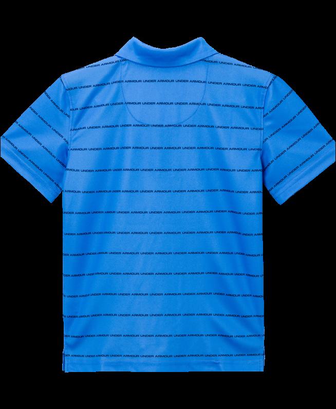 男小童UA Stripe Wordmark Polo衫