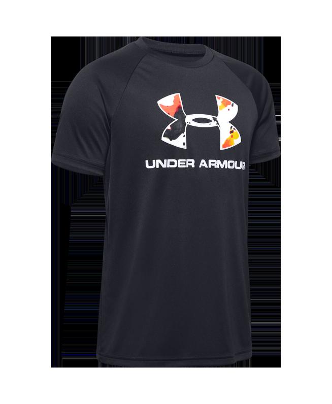 男童UA Upstream Camo Big Logo T恤