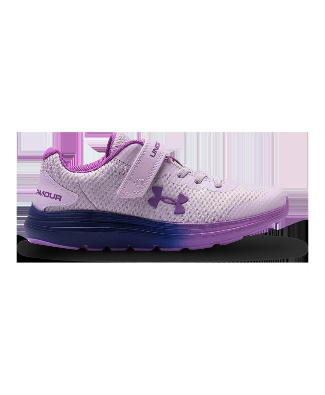 女小童UA Surge 2 AC Frosty跑鞋
