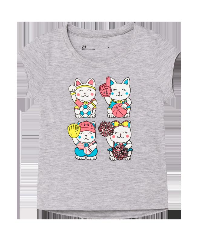女小童UA Good Luck Cat短袖T恤