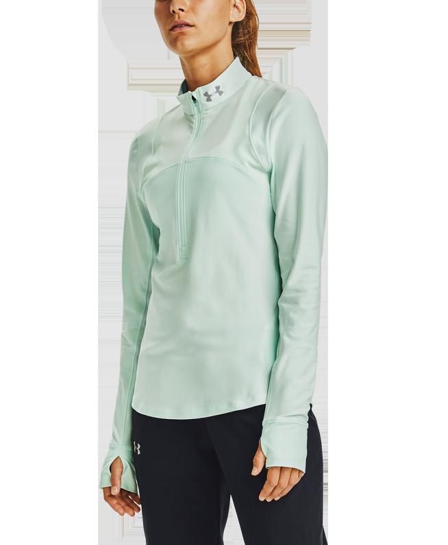 女士UA Qualifier 1/2拉链运动上衣