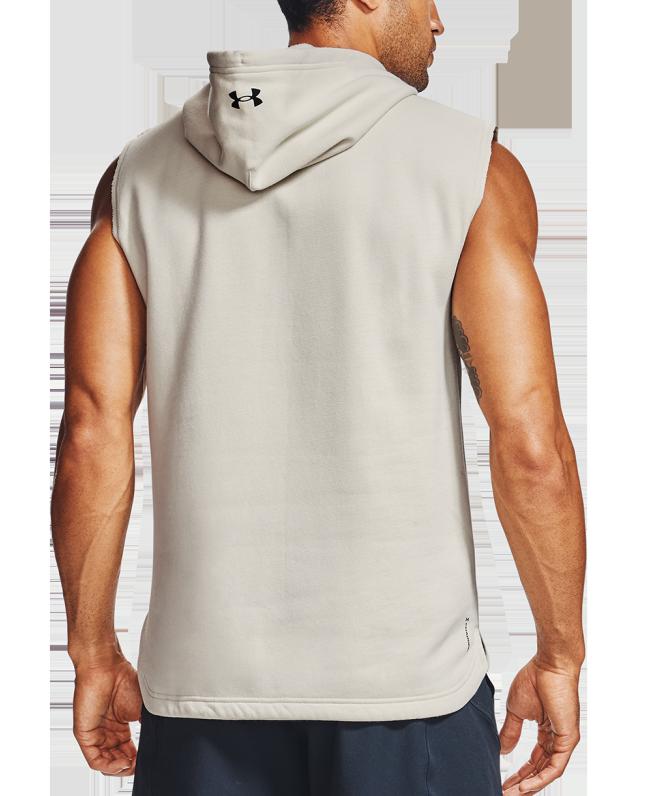 男士Project Rock Charged Cotton®无袖抓绒连帽上衣