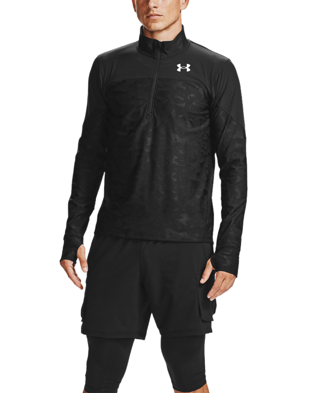 男士UA Qualifier Stealth 1/2拉链上衣