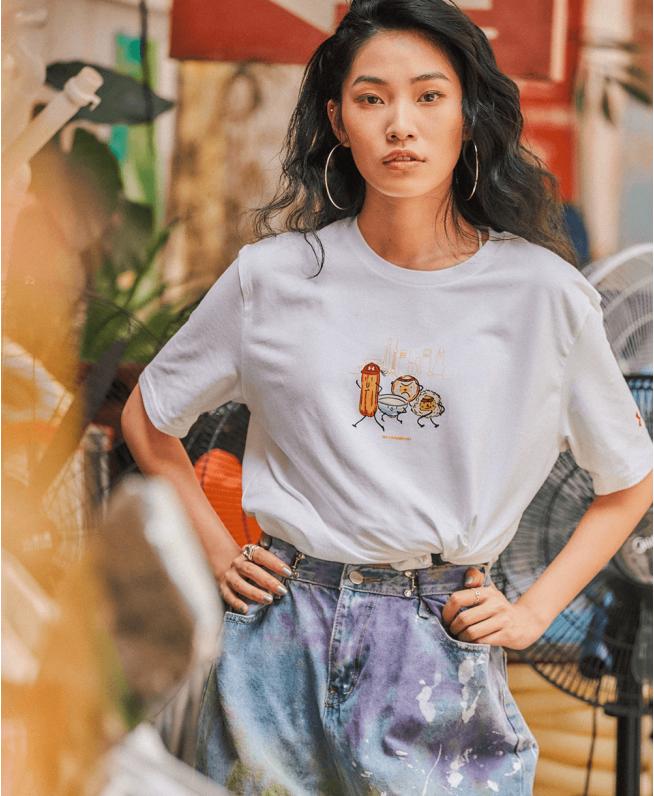 男女同款UA上海城市T恤
