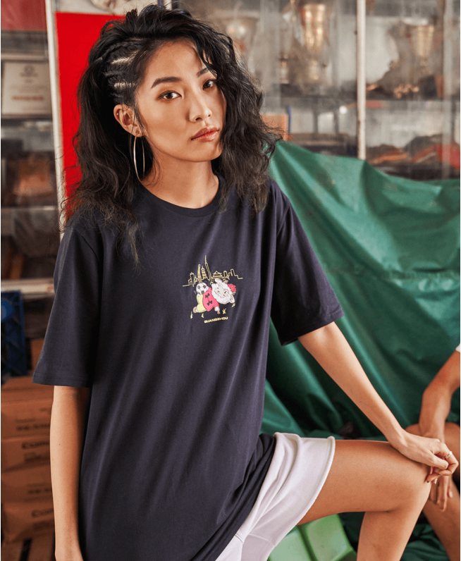男女同款UA广州城市T恤