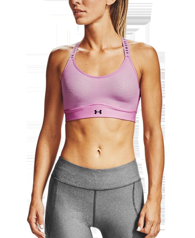 女士UA Infinity Heather运动内衣—中强度