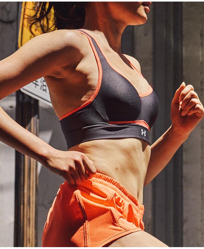 女子UA HeatGear Armour含胸垫运动内衣—高强度
