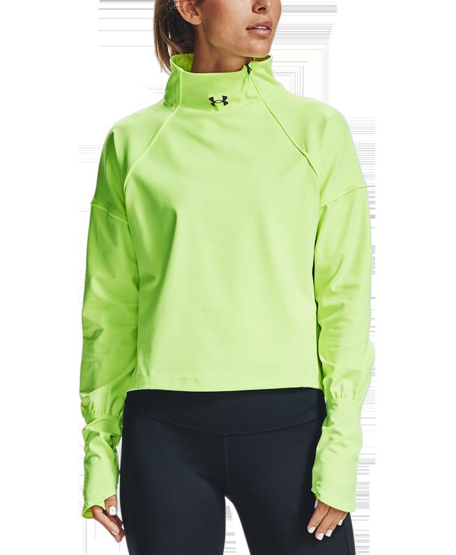 女士UA RUSH ColdGear® 1/2拉链运动上衣