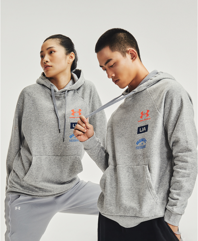男士UA Rival Fleece Originators连帽上衣