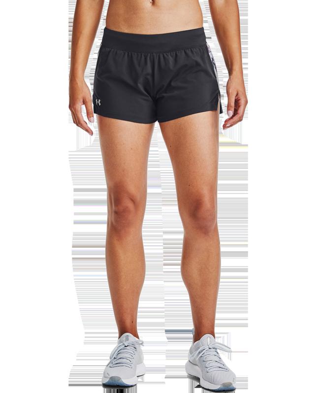女士UA Launch 3英寸印花短裤