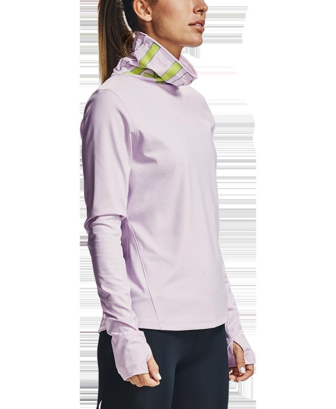 女士UA Qualifier Ignight ColdGear®漏斗领运动衣