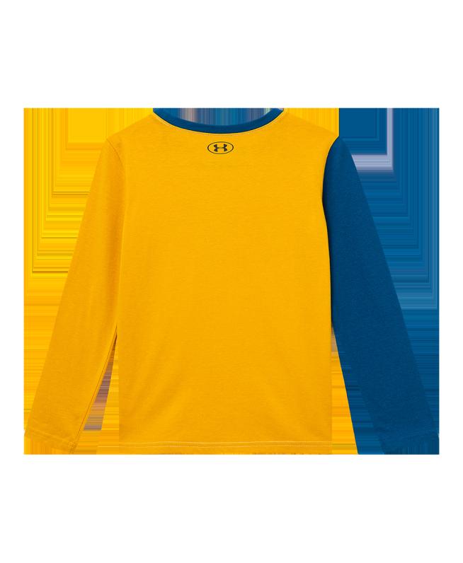 男童UA Signature Colorblock长袖上衣