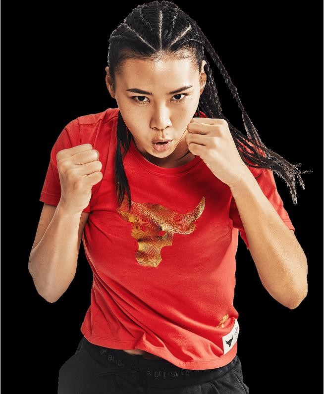 女士Project Rock CNY新春系列短袖T恤