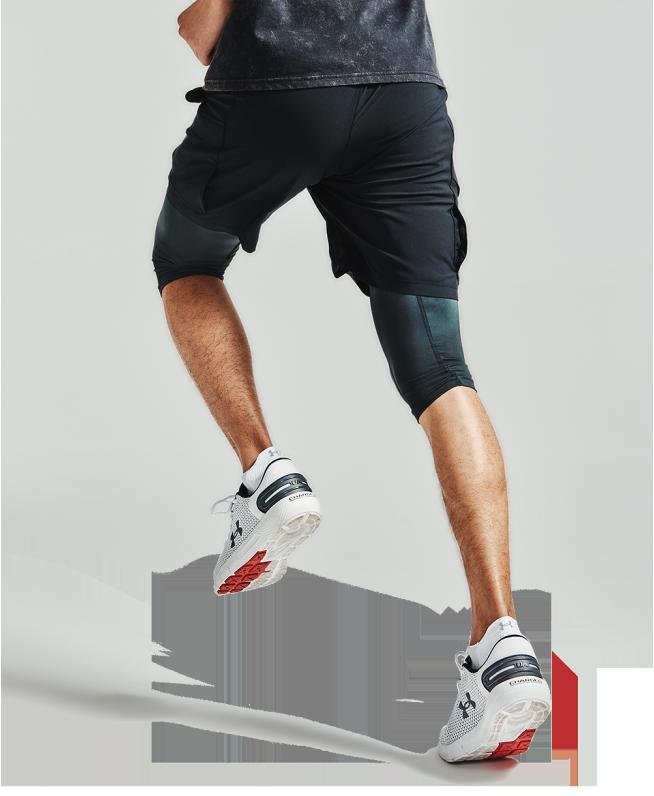 男士UA Anywhere二合一跑步短裤