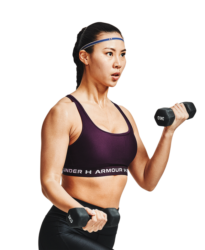 女士Armour Crossback 3-Color运动内衣—中强度