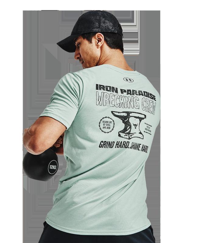 男士Project Rock强森Wrecking圆领短袖T恤