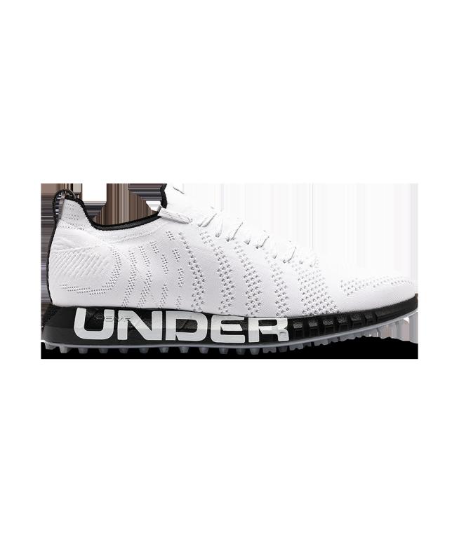 男士UA UA HOVR Knit Lace Up Spikeless高尔夫鞋